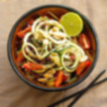 Raw Vegan Keto Pad Thai