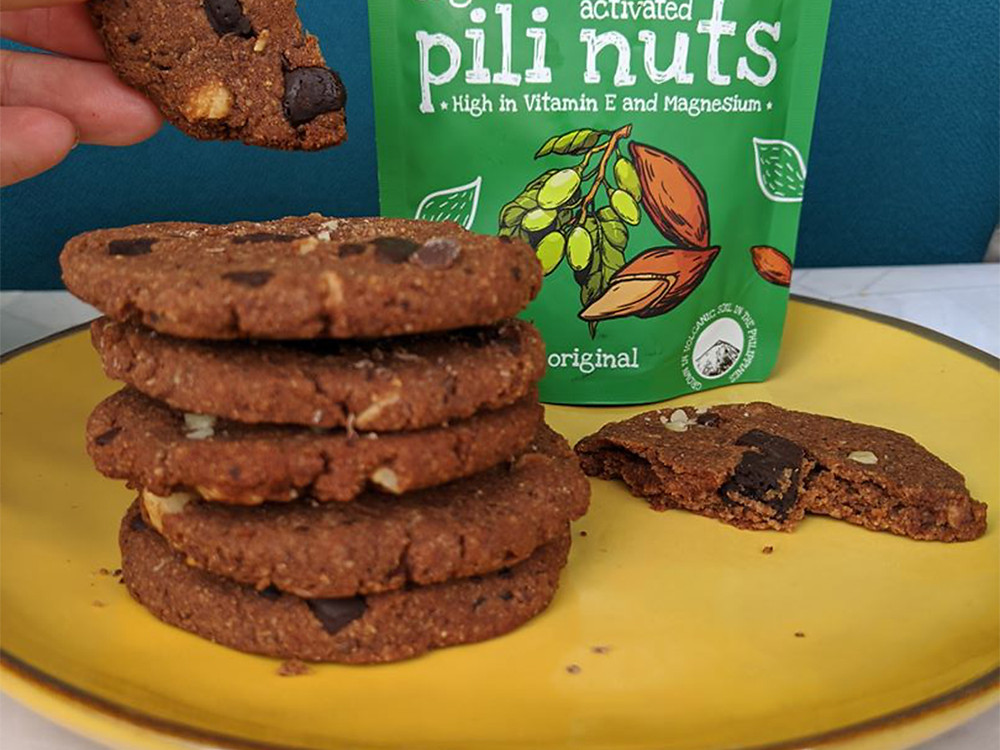 Chocolate chip & pili keto gut friendly vegan cookies