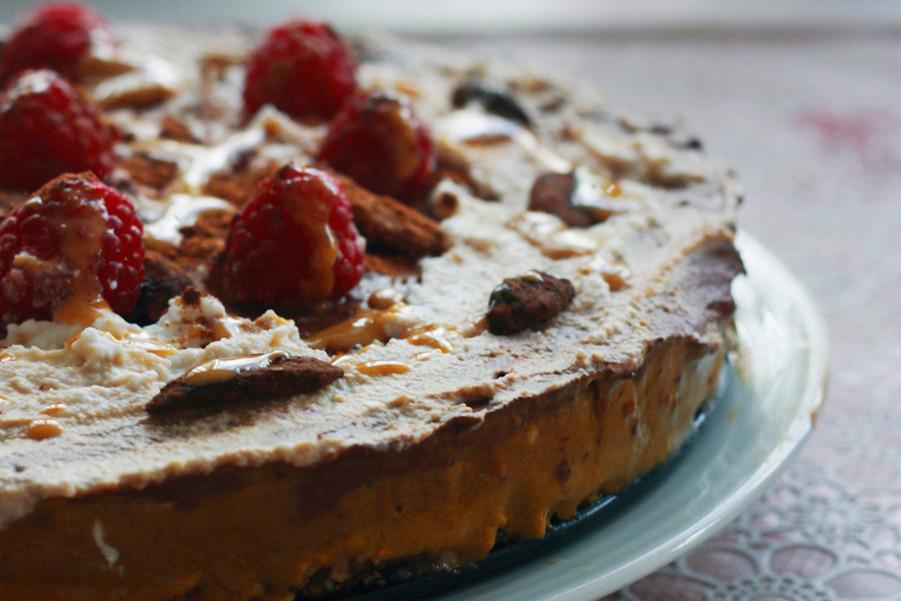 Raw vegan banana & turmeric cake