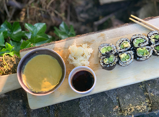 Sushi with Pili Wasabi Sauce