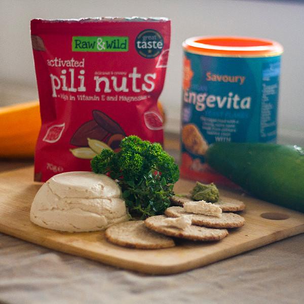Raw vegan pili nut cheese