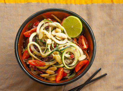 Spicy Raw Vegan Pad Thai