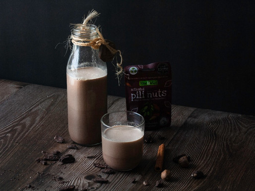 Spiced Raw Chocolate Pili Nut Mylk
