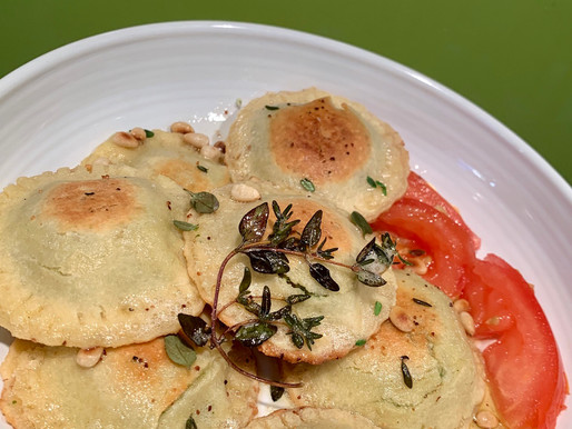 Pili Nut Cheese Ravioli