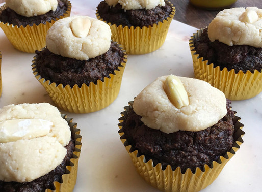 Choc Muffins With Pili Nut Frosting