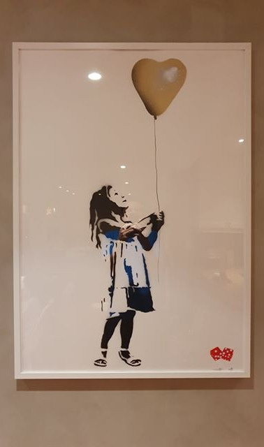 """Girl With The Balloon"" 70x100cm Print"