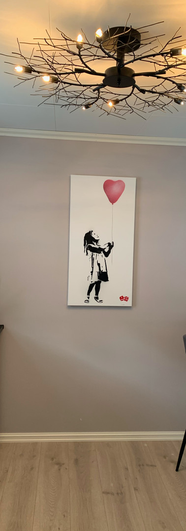 """Girl With The Balloon"" Canvas"