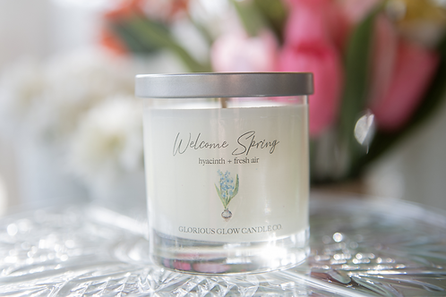 Welcome Spring Candle