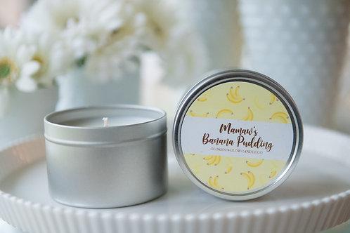 Mamaw's Banana Pudding - 8 oz. Travel Tin Candle