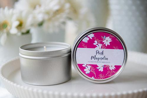 Pink Magnolia - 8 oz. Travel Tin Candle