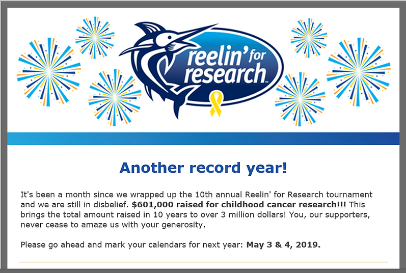 REELIN' FOR RESEARCH 2018