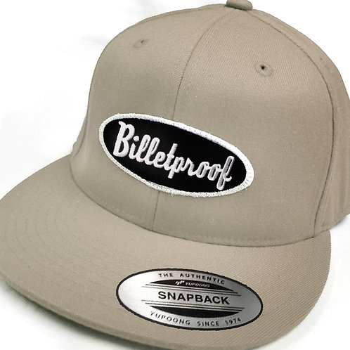 Khaki twill snapback CAP