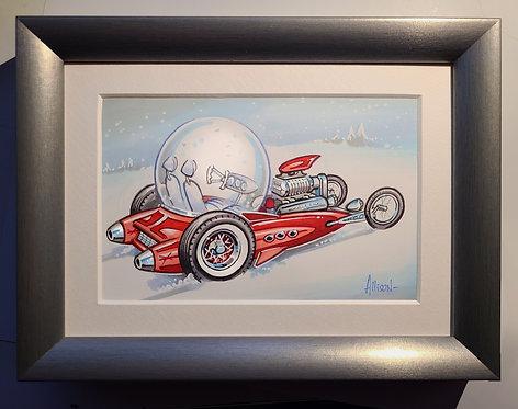 Santas Snowglobitron show car