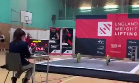 Nicole Refereeing at English Championships