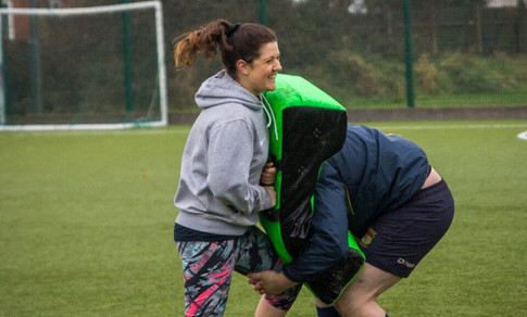 Nicole Coaching Rugby S&C