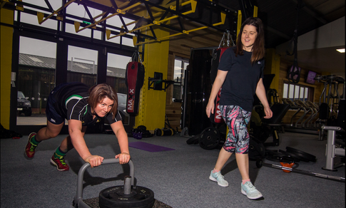 Sled Conditioning for Rugby Womens Team