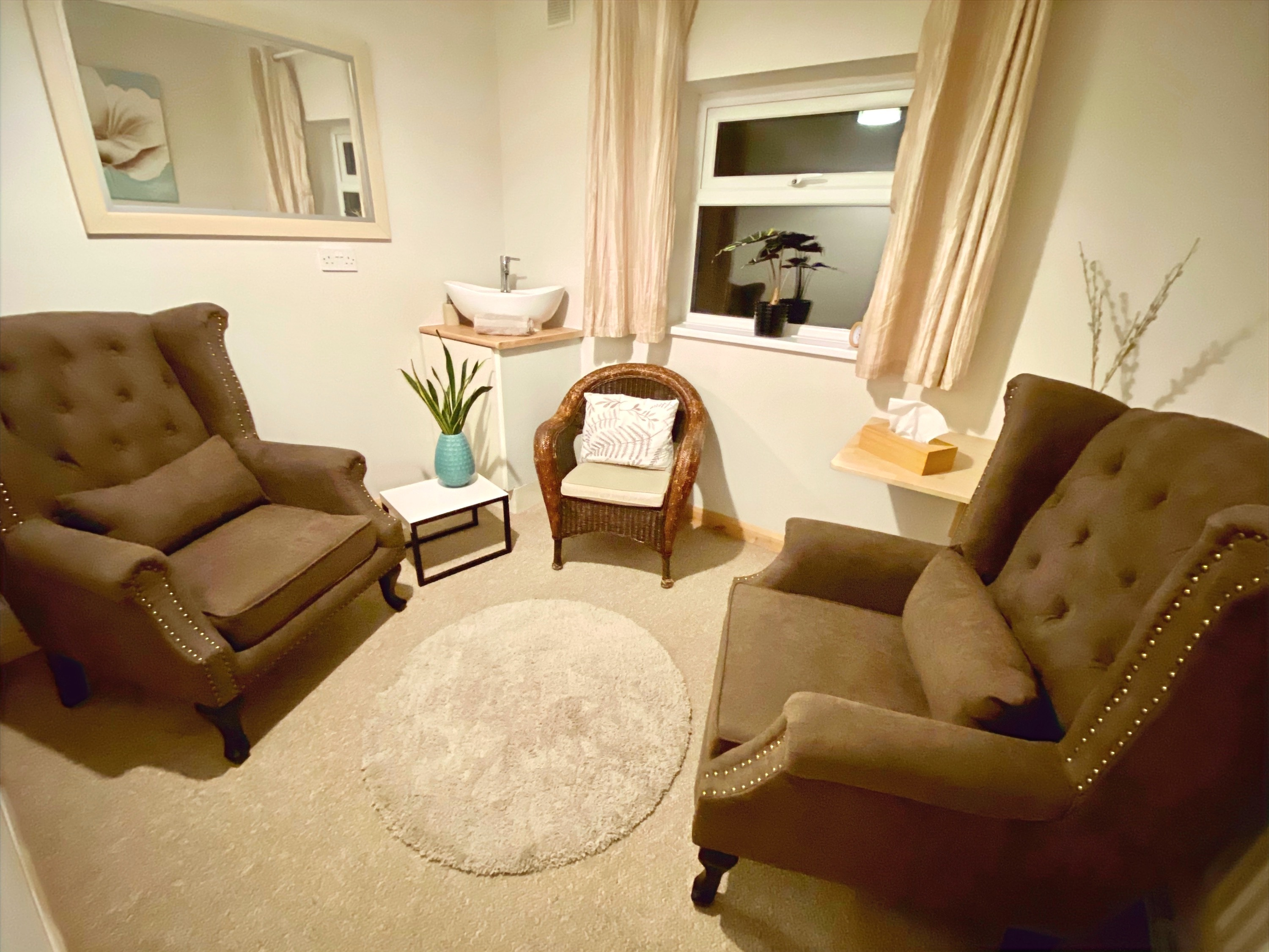 Counselling or talking therapy room