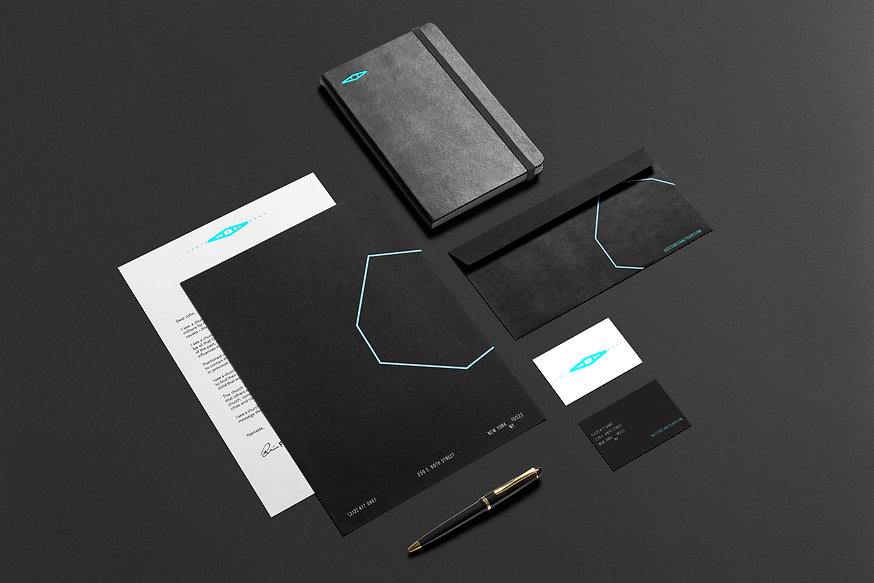 environmental graphic design gym moden clean minimal stationary personal branding
