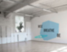 environmental graphic design gym moden clean minimal yoga interior