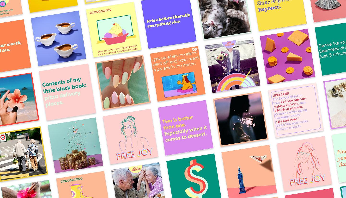 social media femenine modern joy money glossier pink