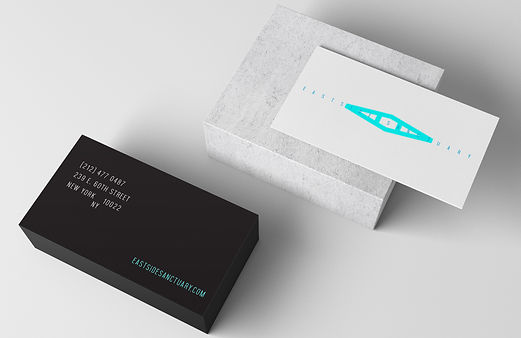 environmental graphic design gym moden business cards clean minimal