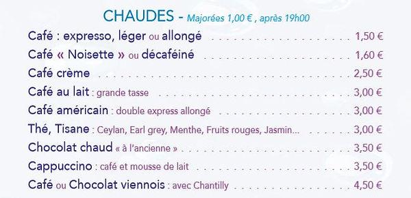 Boissons chaudes Le Chamo