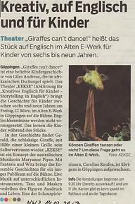 Neue Württembergische Zeitung (NWZ): 14.3.2017
