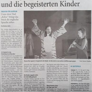 Westdeutsche Zeitung, Germany. Music in Theatre by Maryanne Piper.
