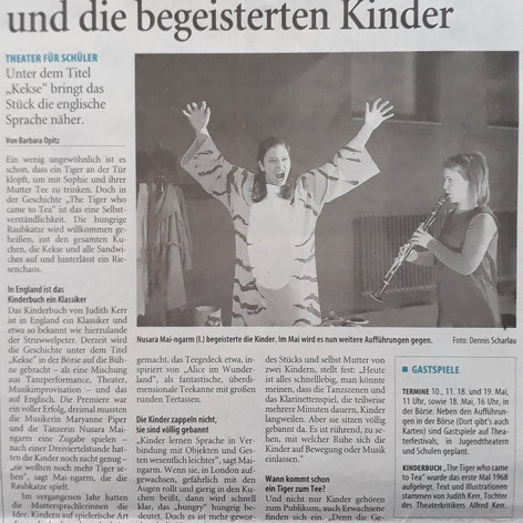 Westdeutsche Zeitung, Germany. Music in Theatre by Maryanne Piper.
