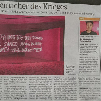 Rheinische Post, Germany: As part of Samson Young's Exhibition @ Kunsthalle, Düsseldorf.