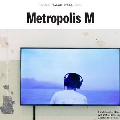 International Metroplis M, The Netherlands: as part of Samson Young's Exhibition in Germany.