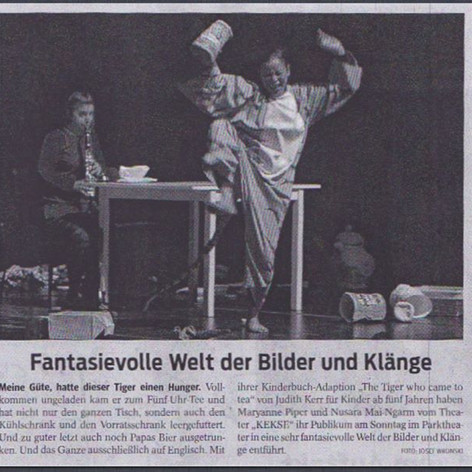 Der Tagesspiegel, Germany for Music in Theatre by Maryanne Piper.