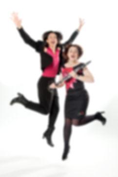 Duo Clarisma! Caroline Keufen und Maryanne Piper