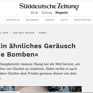 Süddeutsche Zeitung, Germany: As part of Samson Young's Exhibition @ Kunsthalle, Düsseldorf.