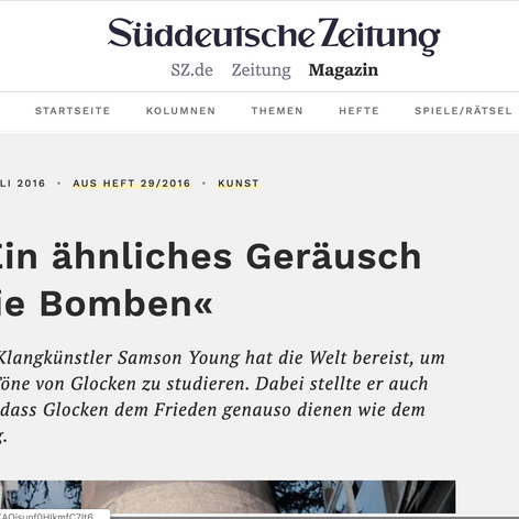 Süddeutsche Zeitung, Germany: As part of Samson Young's Exhibition @ Kunsthalle, Düsseldorf.