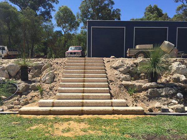 RECONSTITUED LIMESTONE BLOCK STAIRS AUSTRALIND