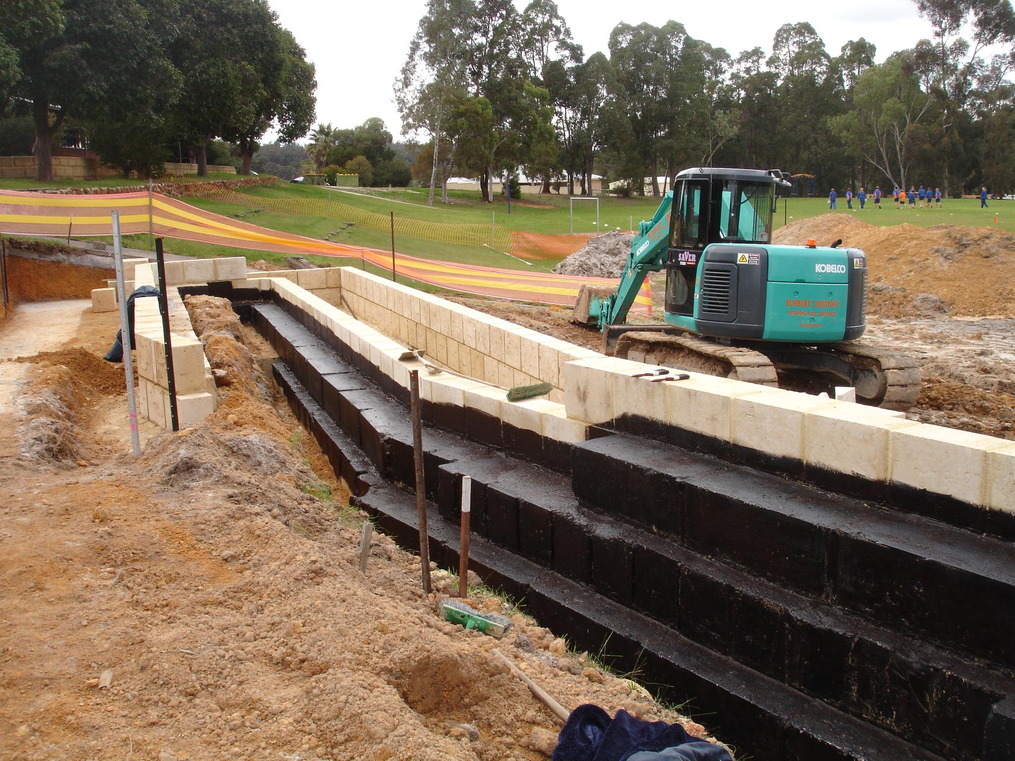 Limestone Retaining Wall
