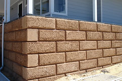 Rammed Earth bevelled limestone block retaining wall in Kirup Western Australia