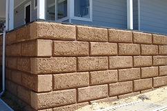 Rammed Earth bevelled limestone block retaining wall in Kirup Western Australia