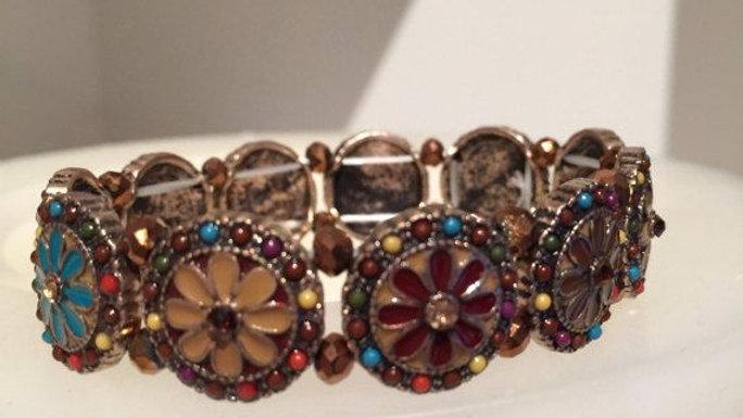 Elastic Autumn Floral Bracelet