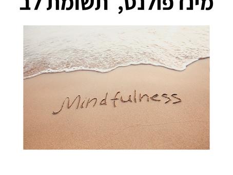 תרגול מדיטציה, תשומת לב, בוננות