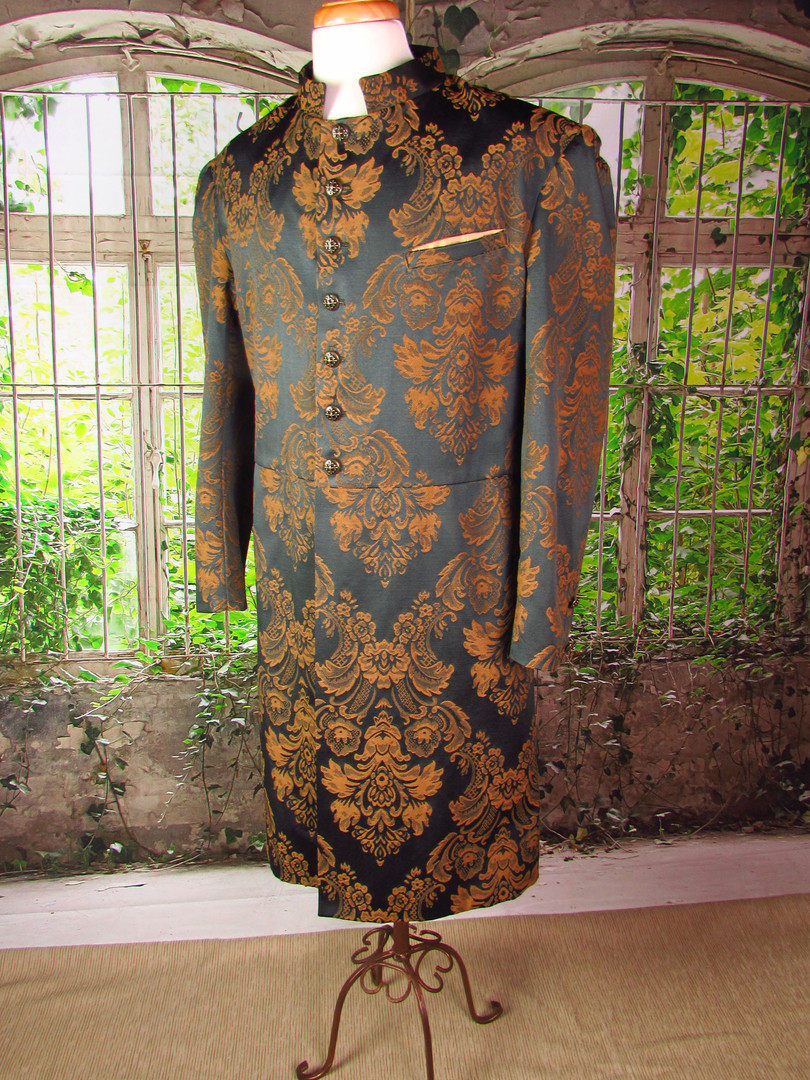 Forest Green and Gold Victorian Coat