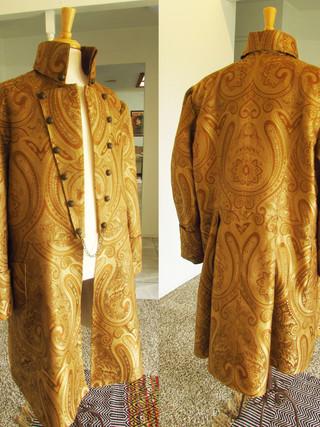 Handmade Size 3X Paisley Frock Coat