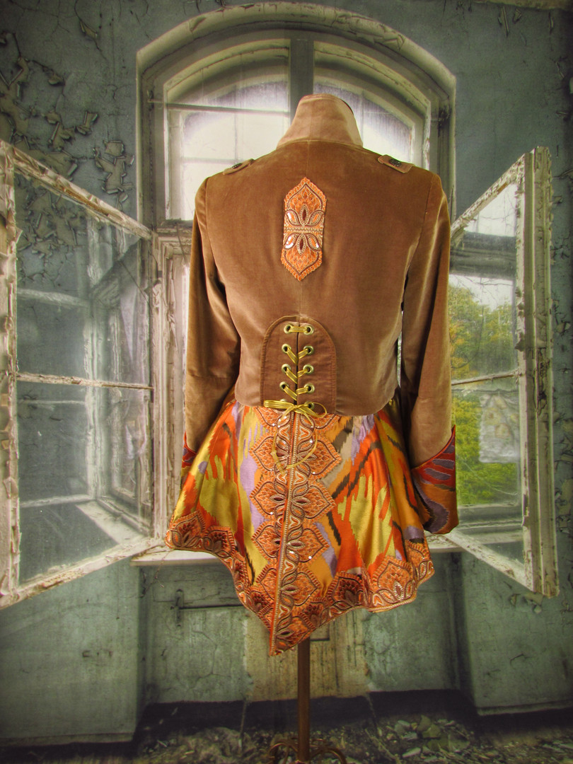 Upcycled Velvet and Brocade Coat