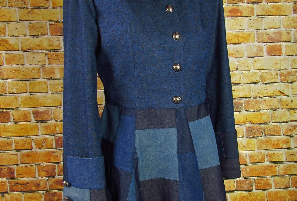 Handmade Denim Patchwork Corset Coat