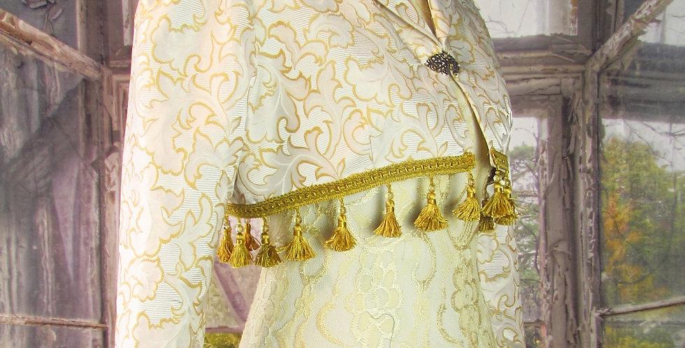 """""""Laila"""" Bolero in Cream & Gold Brocade"""