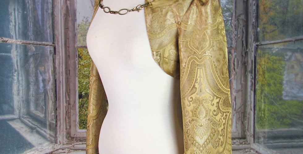 """Sophia"" Bolero in Gold Brocade"