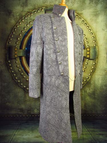 Handmade Textured Denim Pirate Coat