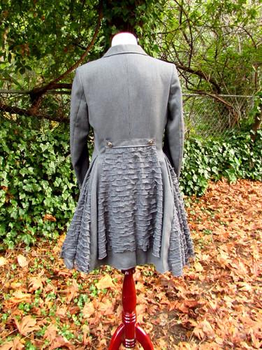 Gray Pinstripe Riding Coat
