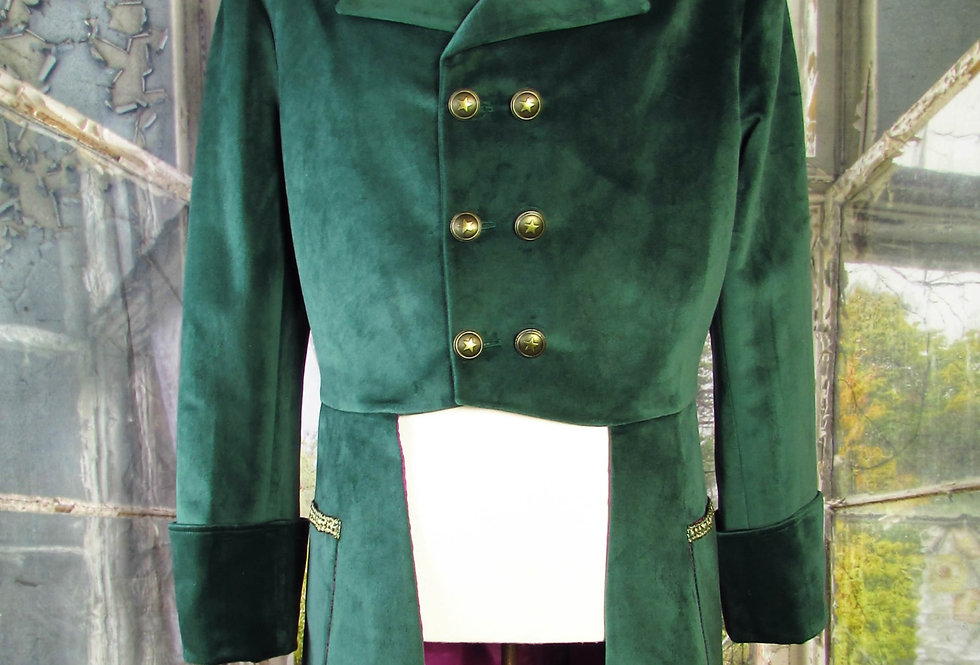 "Green Velvet ""Mad Hatter"" Coat"